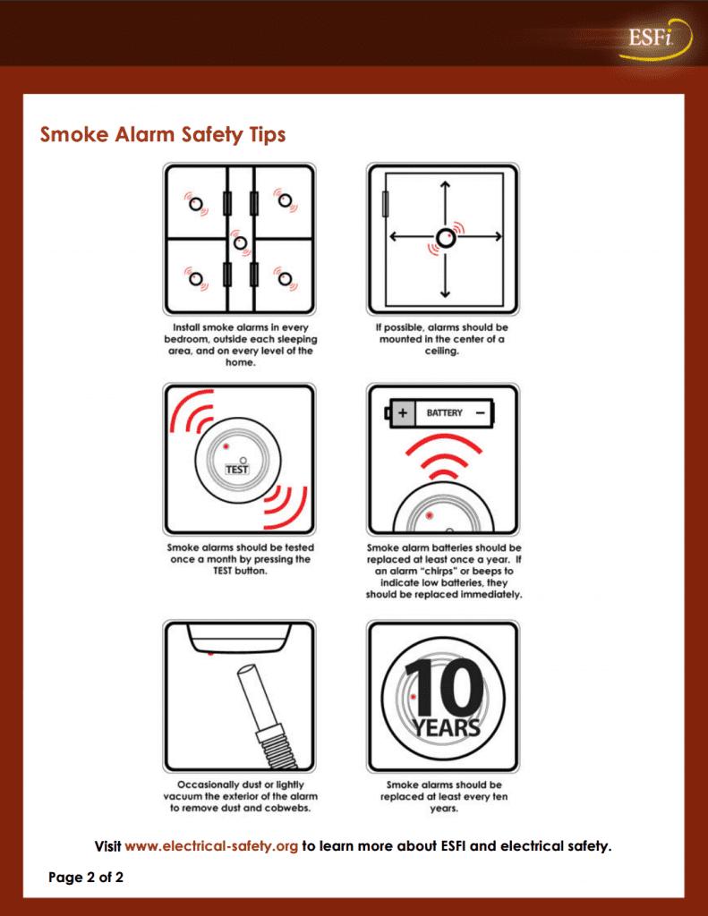 smoke alarm electrical safety
