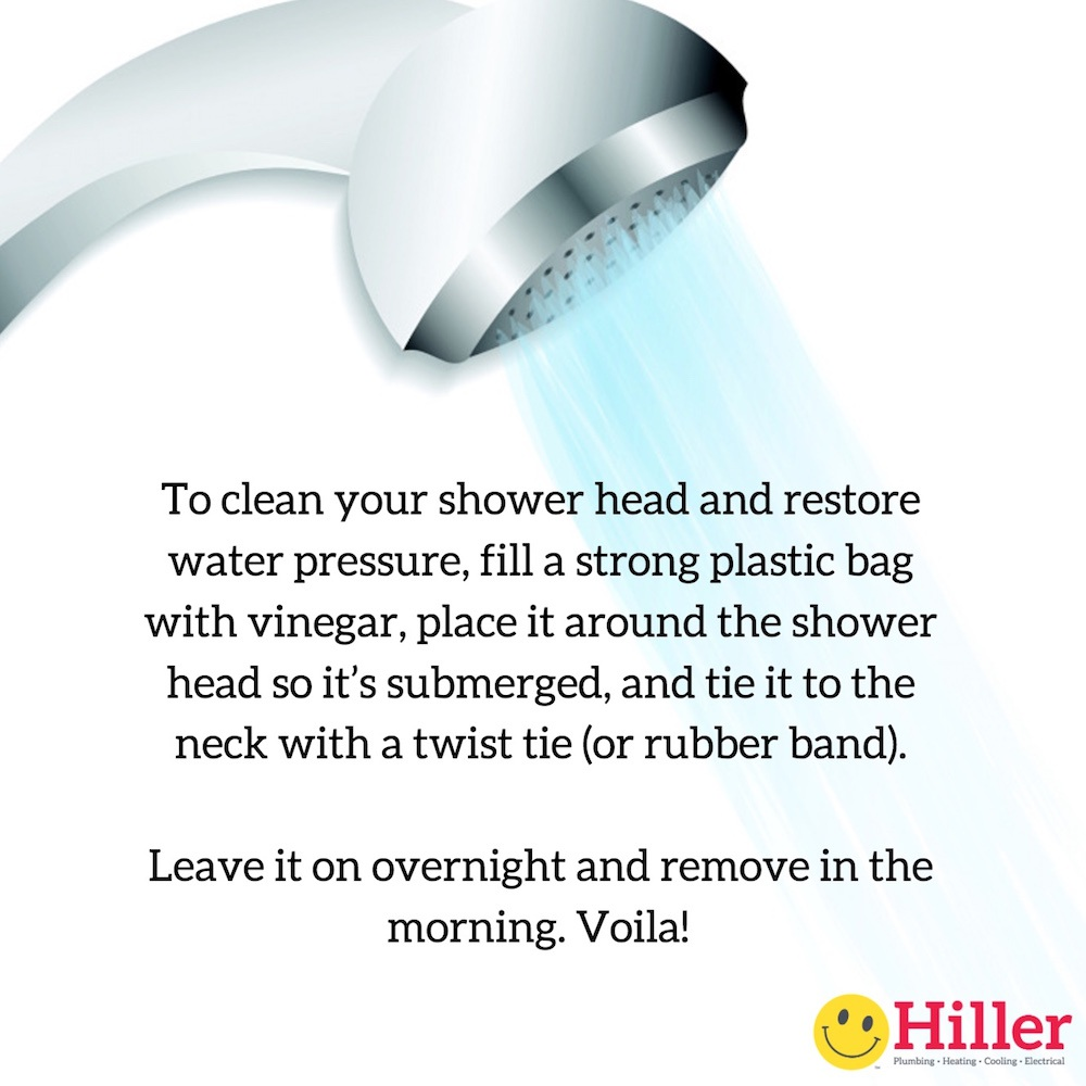 how to restore showerhead water pressure