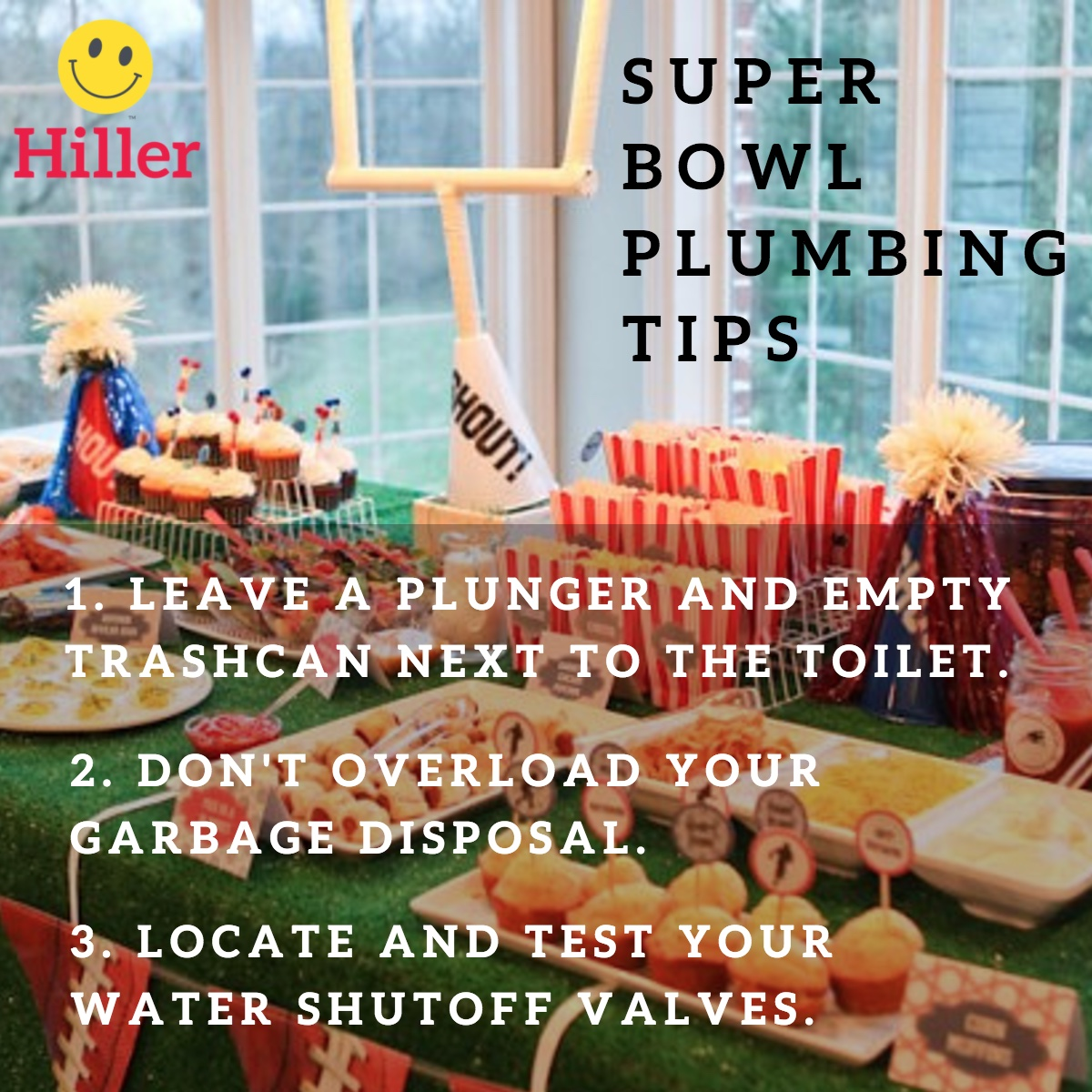 prevent plumbing problems for super bowl and large gatherings