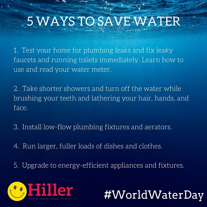 easy ways to save water