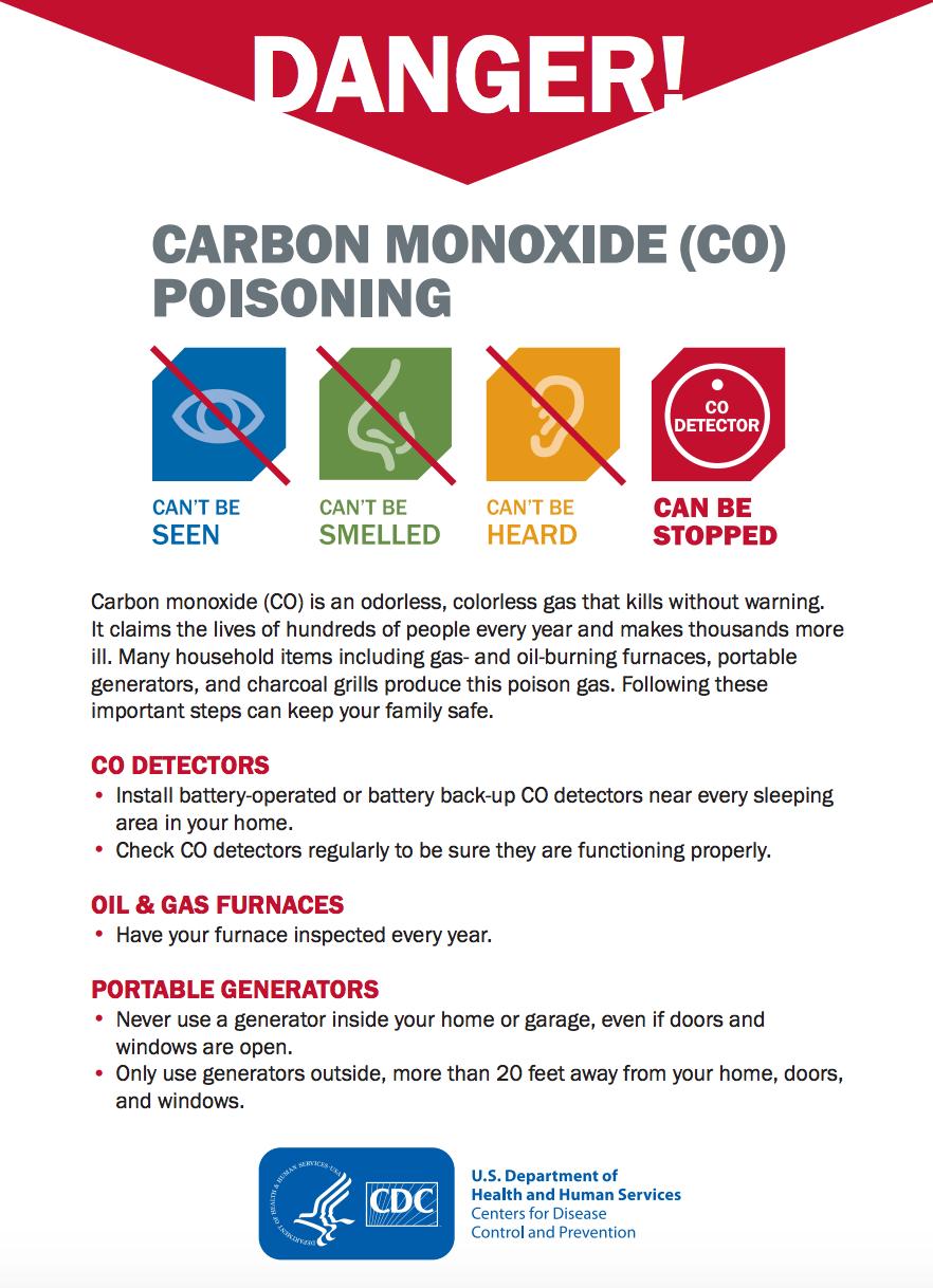 carbon monoxide (CO) fact sheet - cdc