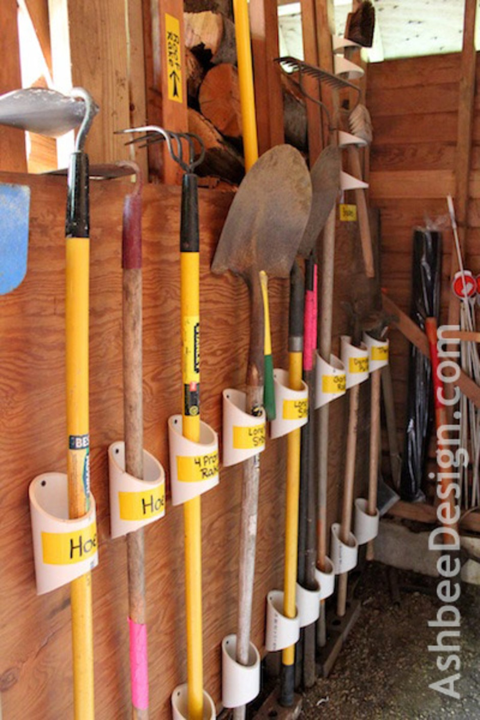 pvc organization hack - garage
