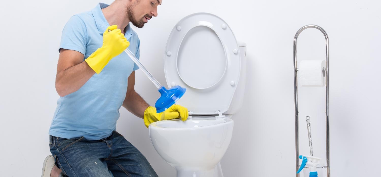 plunging slow draining toilet