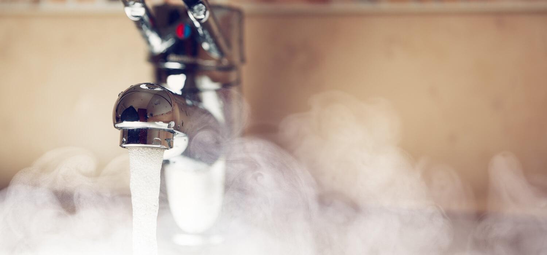 hot water in sink