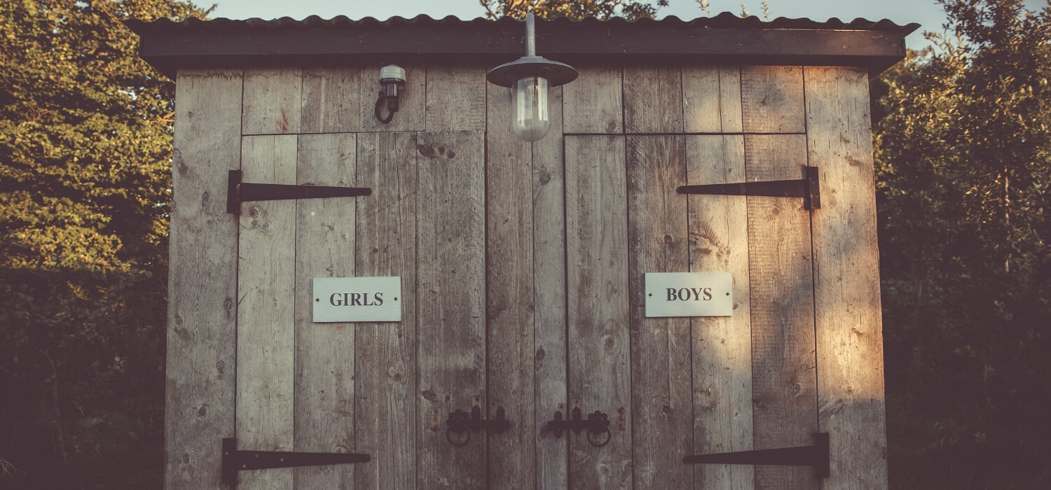 men's and women's outhouse