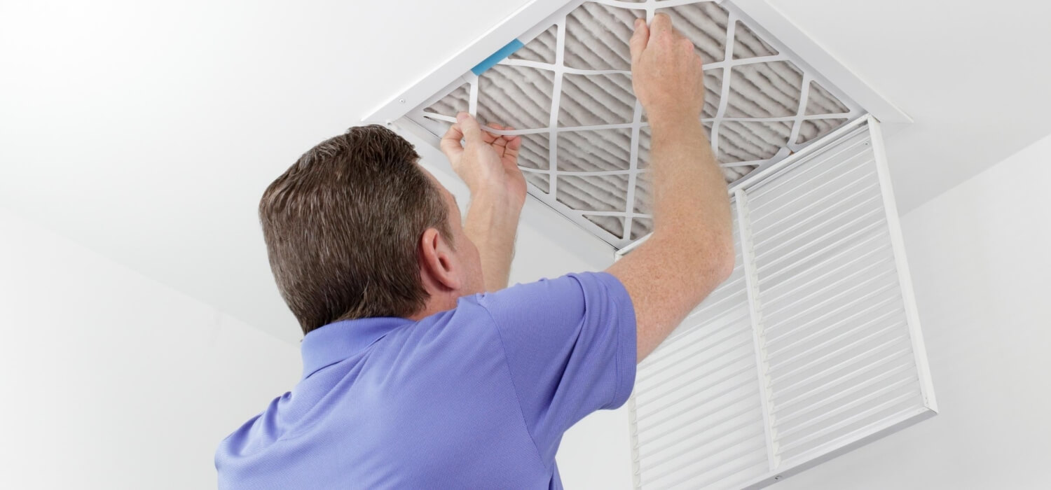 changing air filter for hvac system