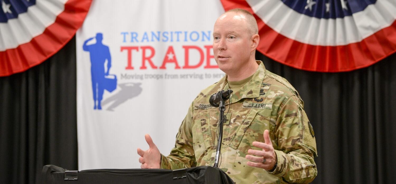 speaker at Transition to Trades Graduation