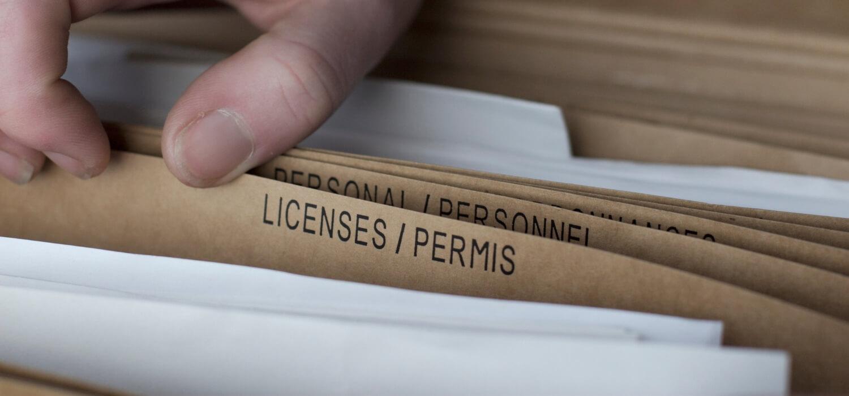 Plumber License File Folder