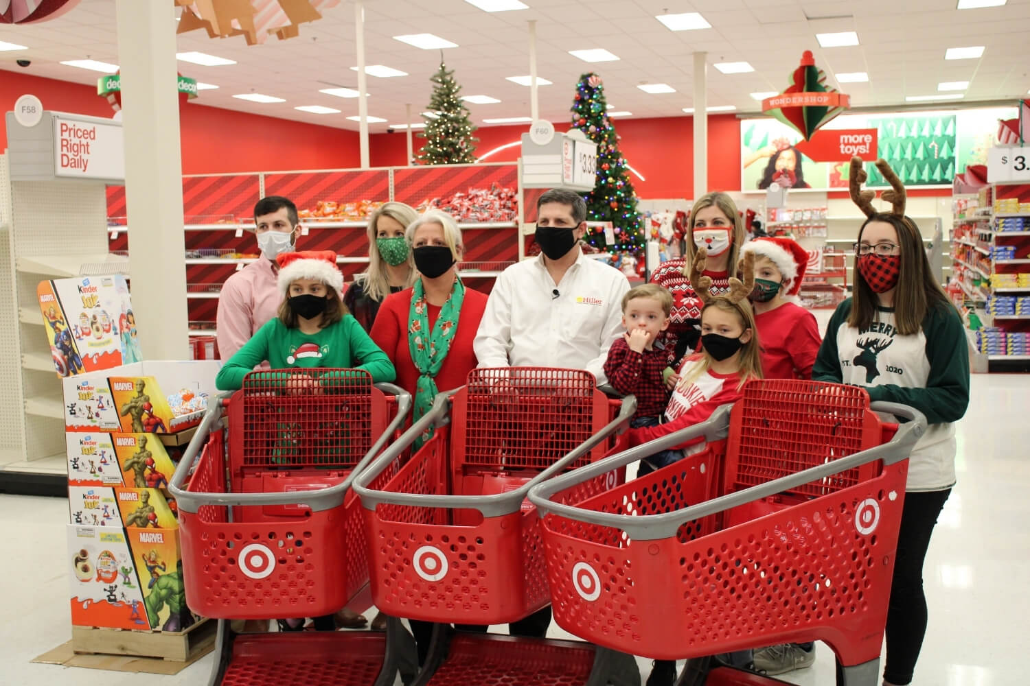 Hiller Family With Shopping Carts for Toys for Tots