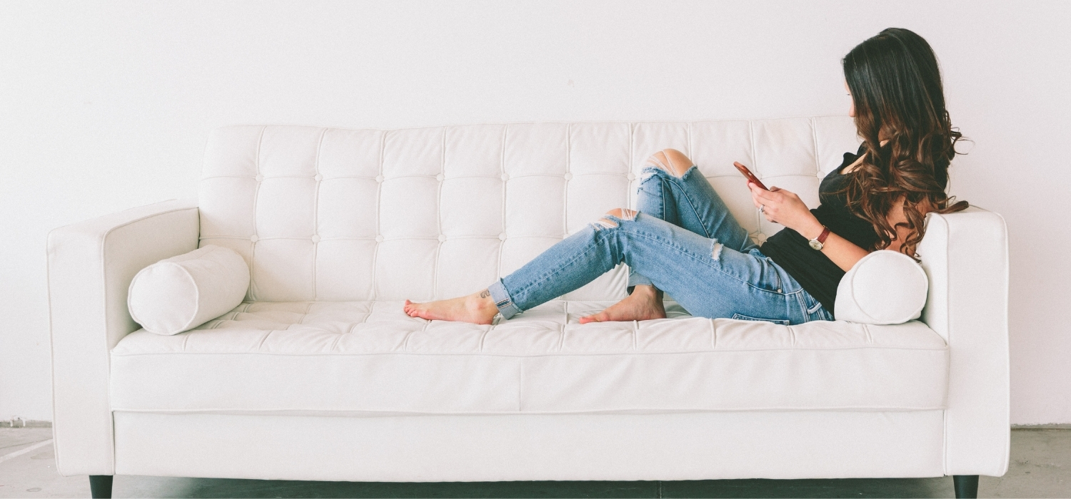 Homeowner Relaxing on the Couch