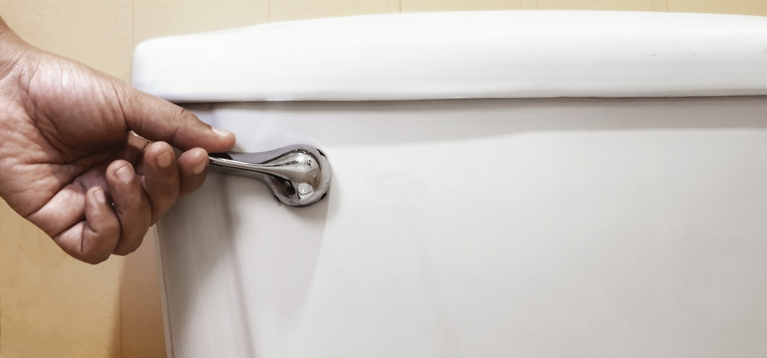 Hand Flushing Toilet to Identify Frozen Pipes