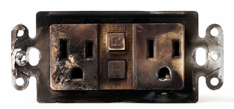 Burnt GFCI Outlet