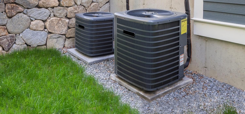 HVAC Units on Concrete Pads