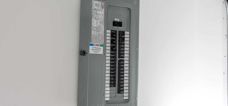 Circuit Breaker Panel With The Door Open