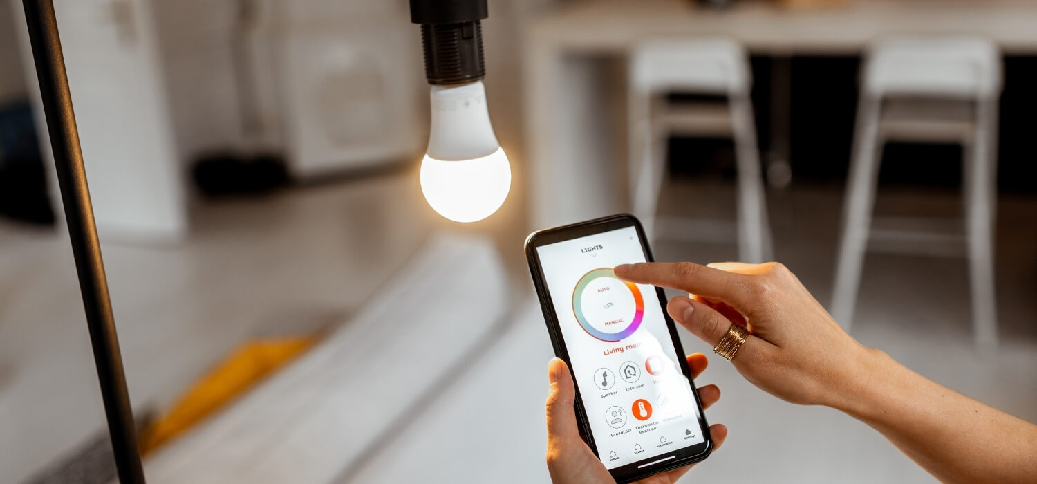 Adjusting a Smart Light Bulb with a Phone App