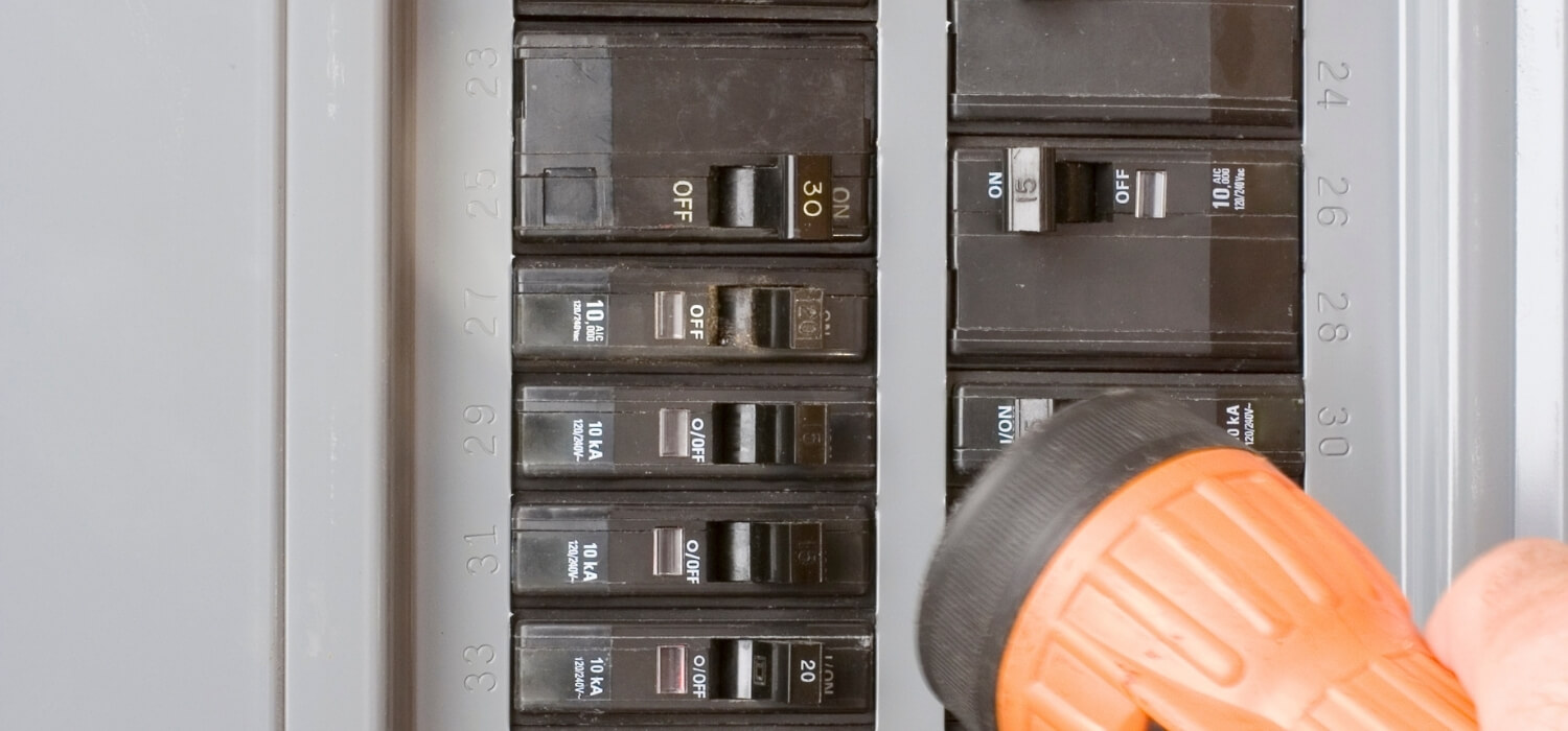 Turning on a Tripped Circuit Breaker