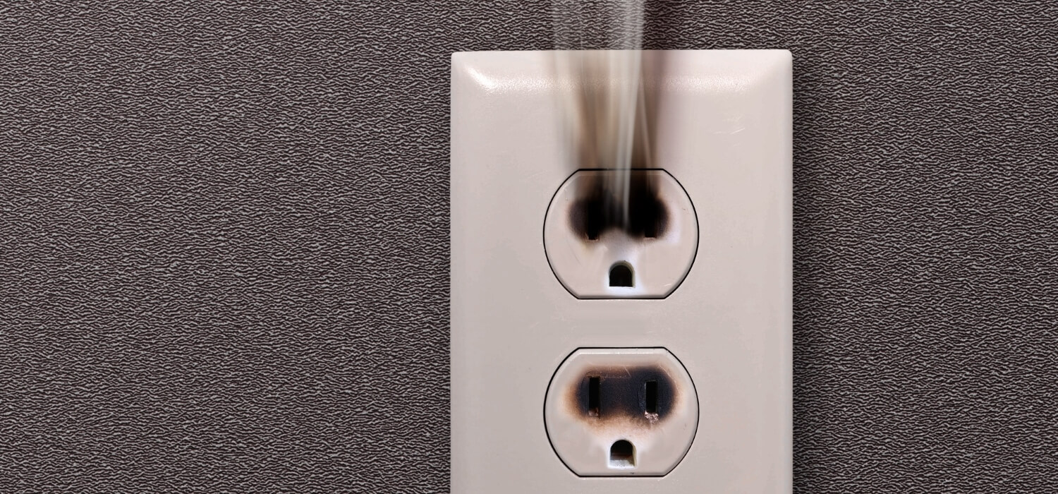 Outlet with Smoke Coming Out
