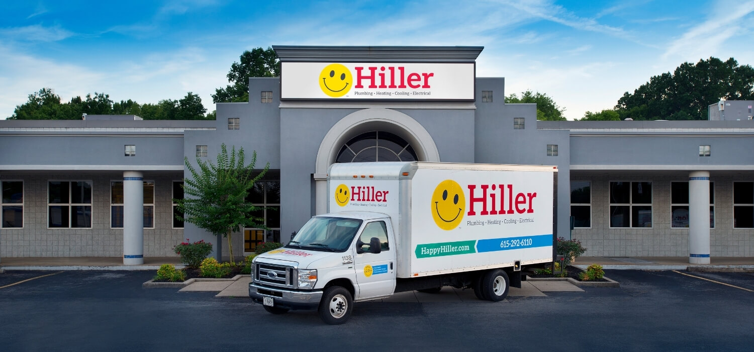 Hiller Truck In Front Of Office